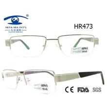 Новый стиль Мужчины Популярная половина Металлические очки Frame (HR473)