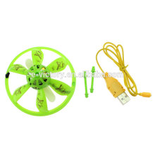 2 channel induction micro flying ufo with led light