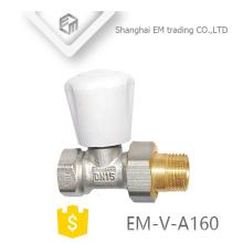 """EM-V-A160 Chine fournisseur laiton 1/2 """"radiateur régulateur de température angle vanne DN15"""