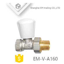 """EM-V-A160 china fornecedor latão 1/2 """"válvula de ângulo do regulador de temperatura do radiador DN15"""