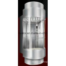 Einzigartiges Design Panorama-Aufzug mit Rückwand im Glas