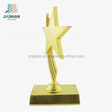Gold Supplier Metal Crafts Regalo promocional Star Trofeo para venta por mayor