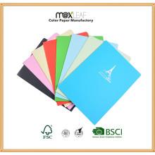 Caderno de papel colorido para fornecimento de papelaria