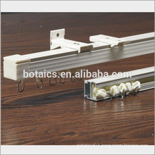 fix on ceiling or wall sliding aluminium accessories for curtain track