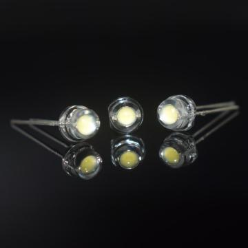Super Bright 5mm hjälm LED 8-9lm ren vit