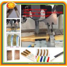 2 eixos de alta velocidade CNC máquina de escova de fio de aço automática