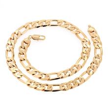 Xuping moda Hotsales cadena de collar de aleación de joyería de oro para hombres --40618