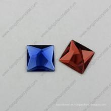 Piedras planas de la joyería de cristal con plata real (DZ-1072)