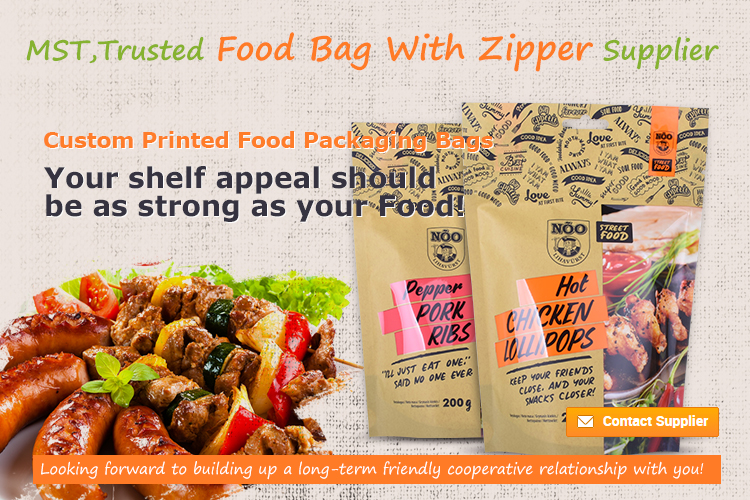 Stand Up Food Packaging Pouch