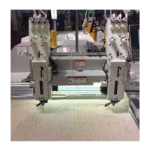 QS-1202DR double Head Computerized Embroidery Machine Dahao Computer for T shirt logo label HEAT WIRE DEDICATED DEVICE