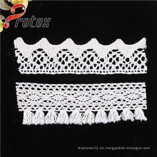 2015 al por mayor de bordado de bordado de bordado blanco o marfil Trimming