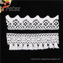 2015 Wholesale White or Ivory Embroidery Border Lace Trimming