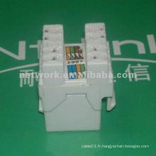 White 180 grappe cat5e utp rj45 prise réseau