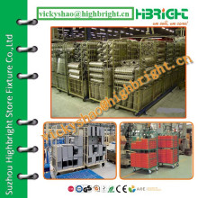 heavy duty wire pallet trolley for warehouse storage system