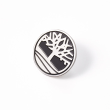 Manufacturer customized metal stainless steel round personalized soft enamel lapel pin badge