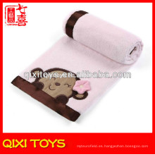 Manta de bebé hecha a mano del paño grueso y suave polar de China manta de bebé del ganchillo de la felpa