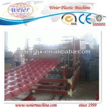 PVC glasierte Platten-Dach-Verdrängungs-Linie / Plastikmaschinerie