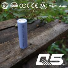 3.7V1400mAh, bateria de lítio, Li-ion 18650, cilíndrica, recarregável