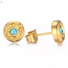 2018 Newest Design Round Gold Hoop Crystal Stud Earring