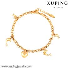 74563-Xuping Jewelry Shop Promotion Pulsera simple del diseño con los ornamentos colgantes