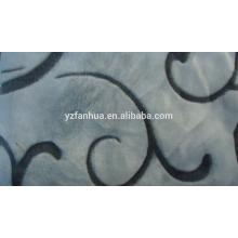 flannel fluffy blanket jacguard pattern