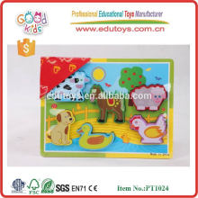 2015 Modern IQ animal puzzle wood for baby