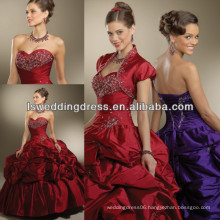 HQ2009 New arrival quinceanera gown dark red ball gowns