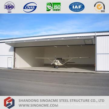 Hangar de aeronaves de armação de metal leve