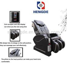 Cadeira elétrica de massagem operada por moedas
