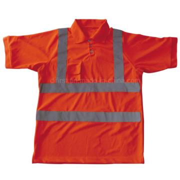 Polaire de sécurité à haute visibilité avec manches courtes (DFJ023)
