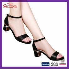 Pura cor PU Lady Wedges Sapatos