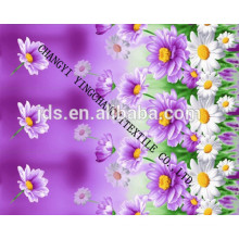 Colourful printed 3d fabric flowers