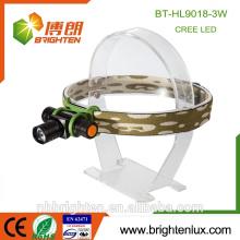 Le plus élevé en gros High Power à longue portée Zoomable Headlamp 1 * aa ou 14500 phare rechargeable