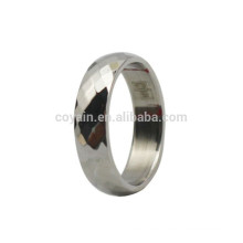 Cheap Silver Stainless Steel Grid Ring