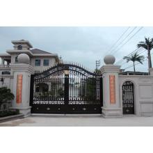 Puerta de hierro forjado galvanizado Puerta exterior forjada