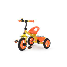Ce Certification Tricycle de bébé simple avec roue en caoutchouc (TR704 Orange)