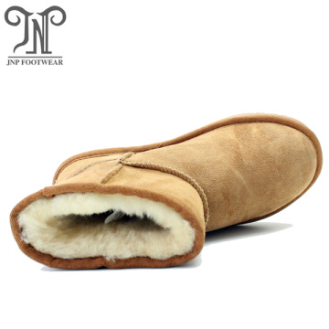 Classic leather warm australia winter sheepskin fur boots