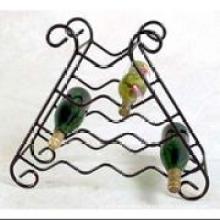 10 Bottles Metal Wire Wine Rack