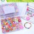 New Fashion Girls DIY String Beads Brinquedos Educativos Conjuntos de Beading de acrílico de brinquedo