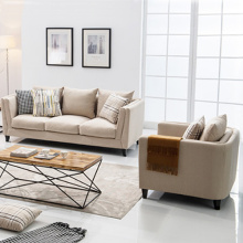 Sofa set 3-Piece Five Seater Linen Upholstered Sofa