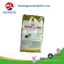 Алюминиевый ламинированный мешок для пищевых продуктов для домашних животных с молнией