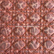 hot-stamping tecido bordado de colchas com pano de malha
