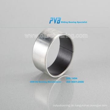Wassergeschmiertes Gummilager basierend auf Cutless Bearing, ölfreie Gleitbuchse mit PTFE + Stahlrücken, DU-Buchse der Serie SF-1