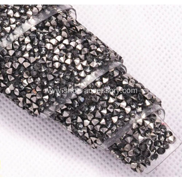 Hotfix Rhinestones Ribbon with Double Point Back