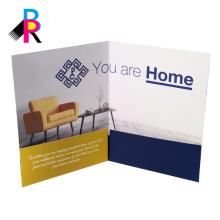 carpeta de presentación de impresión a todo color de diseño personalizado bien