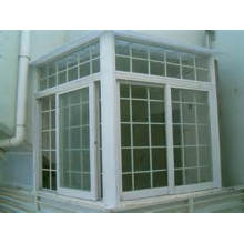 Double Hung Vinyl Vertical Sliding Window with Grils