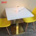 mesas e cadeiras de jantar de restaurante de mesa de mármore de corte personalizado