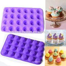 BPA libre de silicona 24 taza muffin pan para hornear