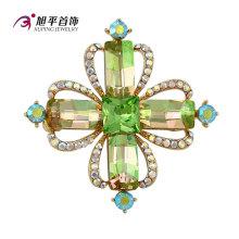 Xuping Fashion Luxury Rhodium Cristales de Swarovski Rhinestone Flower Jewelry Element Brooch - X0421006