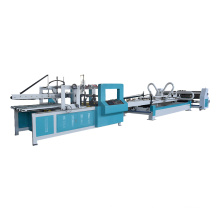 High speed double side paper board box gluing glue pasting machine